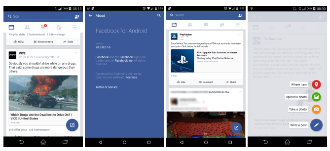 Facebook Android Material Design