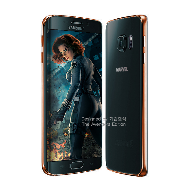 S6 edge Black Widow