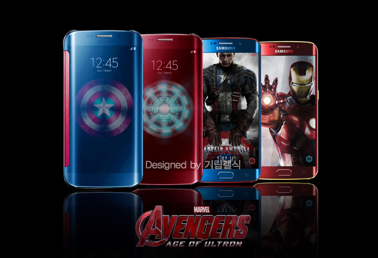 S6 edge Clear cover Avengers