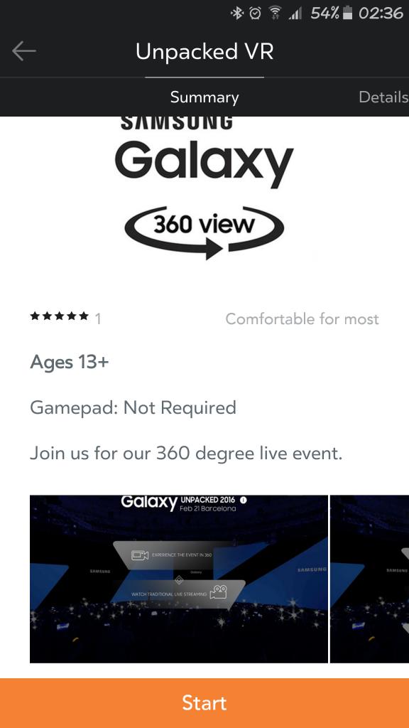 Unpacked VR Samsung 2016