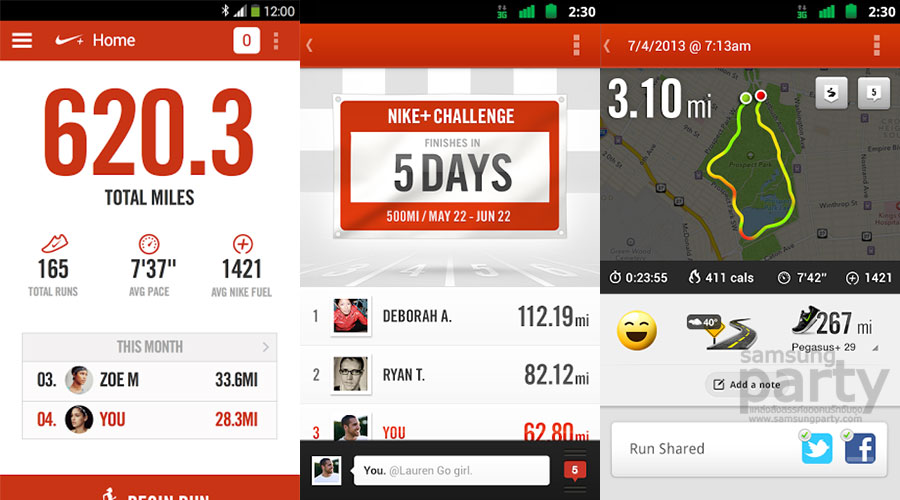 Nike+ Running Android