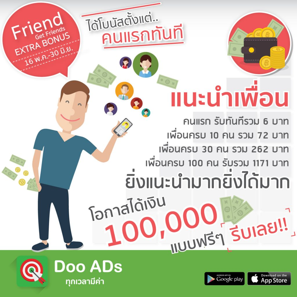 Doo Ads Friend Get Friends Extra Bonus
