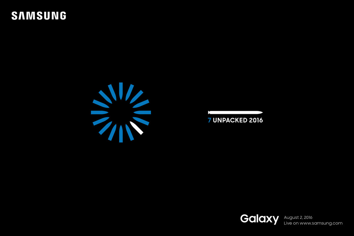 samsung 7 unpacked invite samsung galaxy note 7