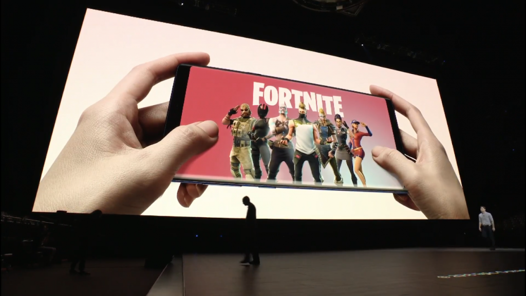 Samsung Galaxy Note 9 with Fortnite