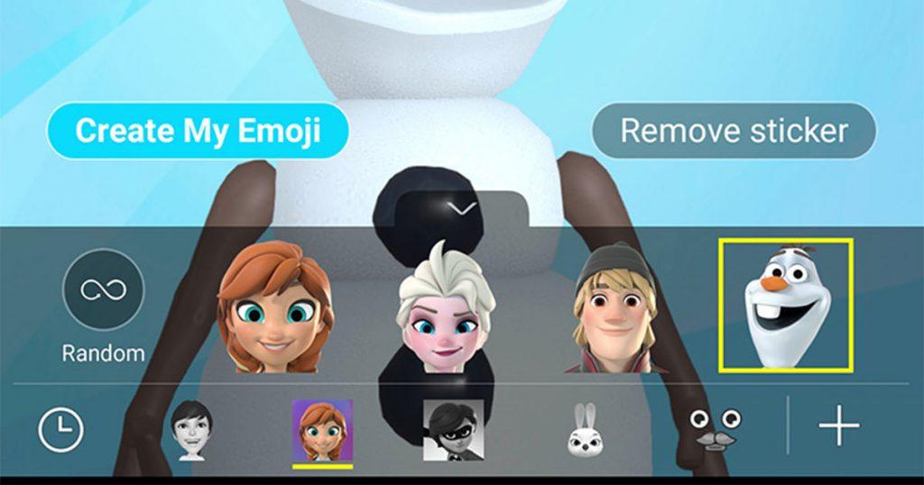 Frozen มาอยู่ใน AR EmojiบนSamsung Galaxy S9 และ S9+