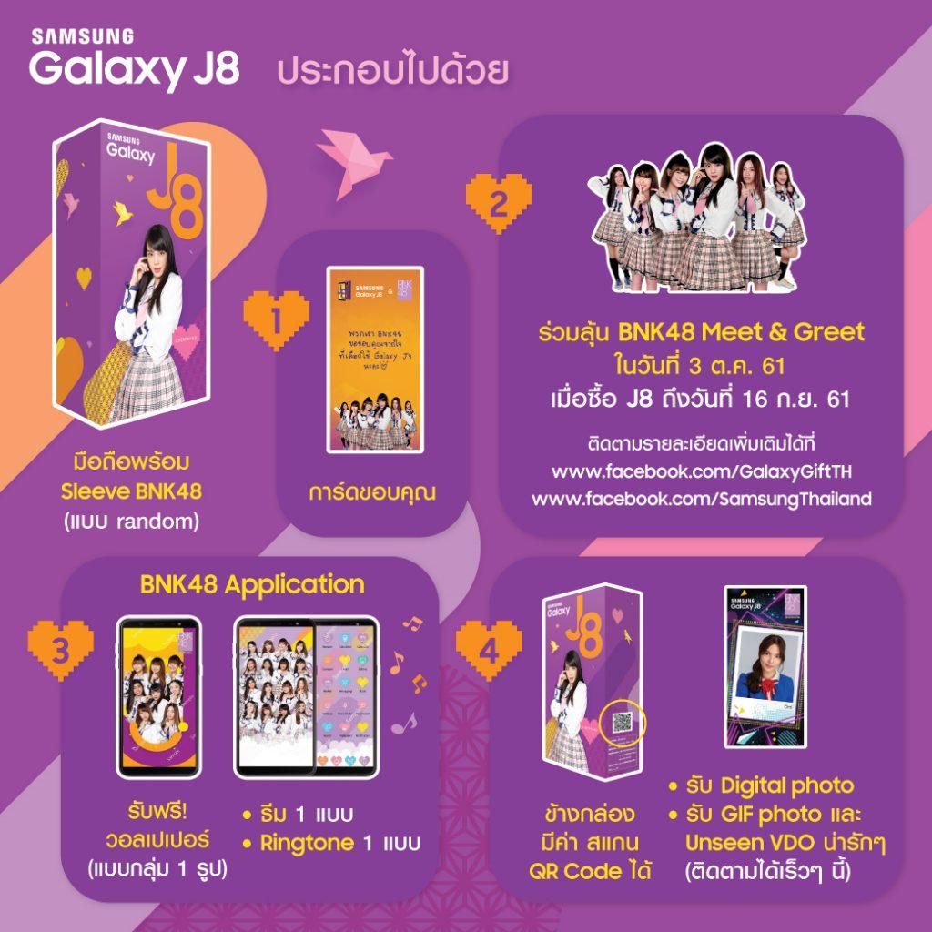 Samsung Galaxy J8 BNK48 Limited Edition BOXSET