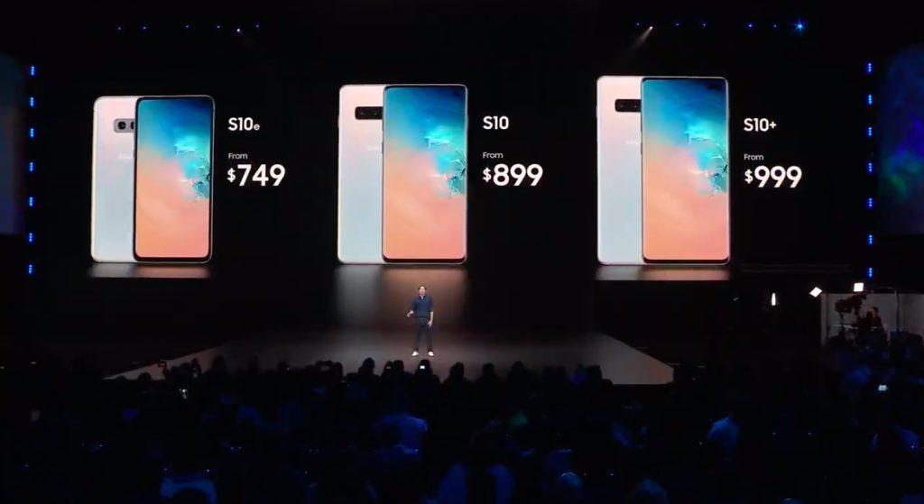 Samsung Galaxy S10 Series Price